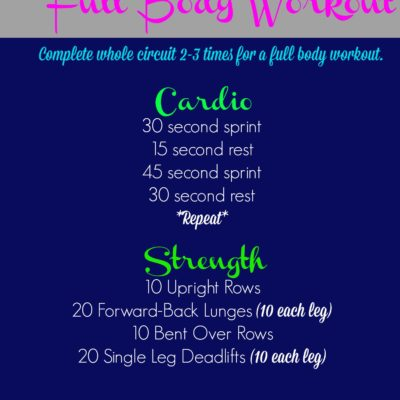 Take it to the Street Full Body Workout