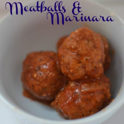Crockpot Marinara & Meatballs: Kid Approved